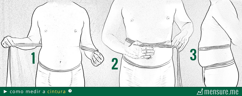 como medir gordura corporal com fita métrica - como medir a cintura