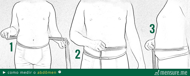 como medir gordura corporal com fita métrica - como medir o abdômen