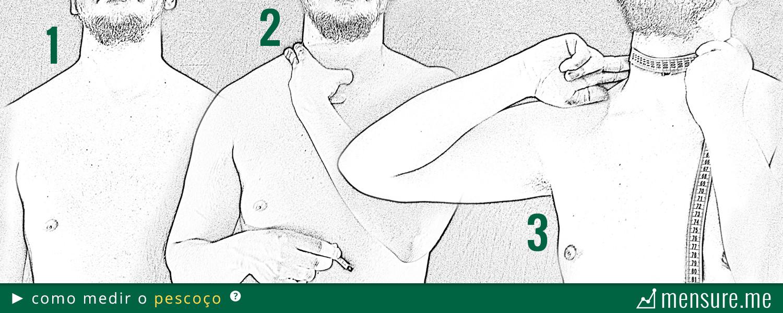 como medir gordura corporal com fita métrica - como medir o pescoço